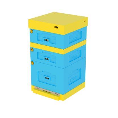 Улей ППС Lyson с низким дном 10 рамок, комплект 1 корпус дадан +2 магазина