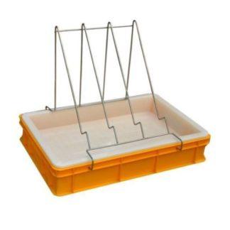 Пластиковая ванночка для распечатки 100 мм с пластиковым ситом