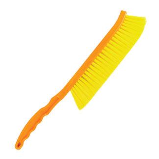 Щетка пчеловодческая, длинная, нейлоновая щетина, пластиковая ручка