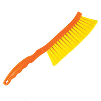 Щетка пчеловодческая, короткая, нейлоновая щетина, пластиковая ручка