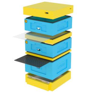 Улей ППС 10 рамок, комплект 1, с высоким дном