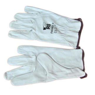 Перчатки кожаные, с резинкой