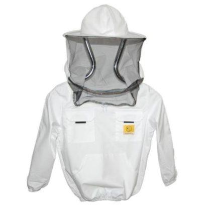 Куртка пчеловодческая со шляпой и лицевой сеткой, детская