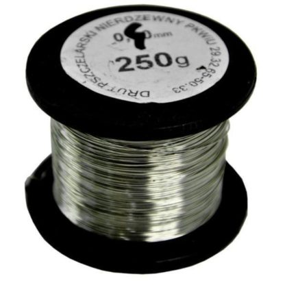 Проволка из нержавеющей стали для рамок 0,4 мм, 250 гр