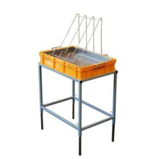 Стол для распечатки с пластиковой ванночкой 100 мм и нержавеющим ситом