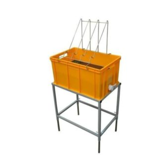 Стол для распечатки с пластиковой ванночкой 300 мм и нержавеющим ситом