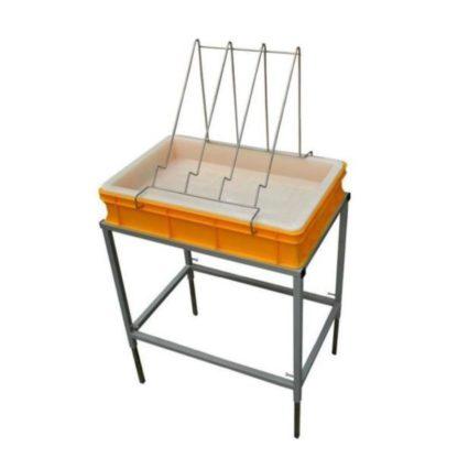 Стол для распечатки с пластиковой ванночкой 100 мм и пластиковым ситом
