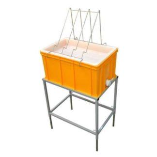 Стол для распечатки с пластиковой ванночкой 300 мм и пластиковым ситом
