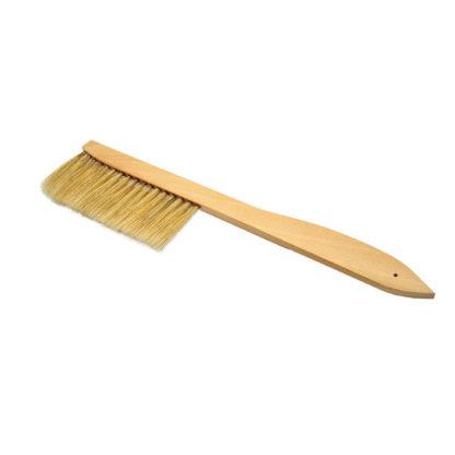 Щетка пчеловодческая, короткая, натуральная щетина, деревянная ручка
