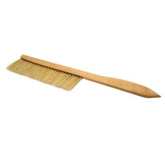 Щетка пчеловодческая, длинная, натуральная щетина, деревянная ручка