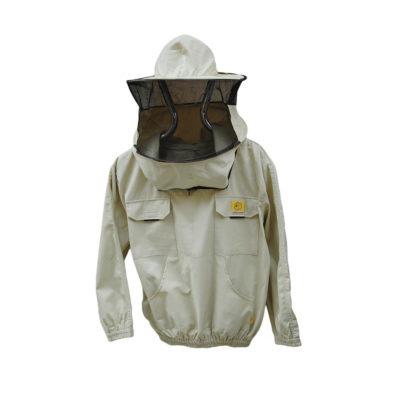 Куртка пчеловодческая со шляпой и лицевой сеткой, без замка