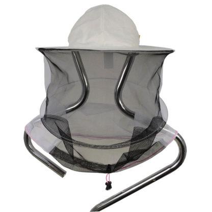 Шляпа пчеловодческая, льняная, с лицевой сеткой (сетка сзади и спереди).