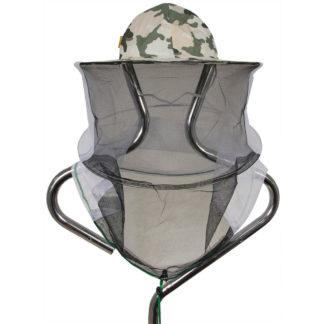 Шляпа пчеловодческая с лицевой сеткой, камуфляж (сетка сзади)