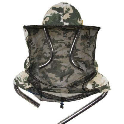 Шляпа пчеловодческая с лицевой сеткой, камуфляж (ткань сзади)