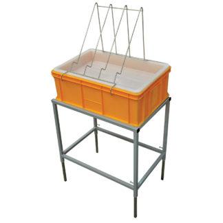 Стол для распечатки с пластиковой ванночкой 200 мм и пластиковым ситом