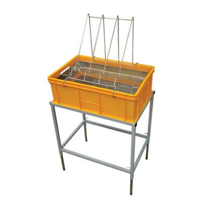 Стол для распечатки с пластиковой ванночкой 200 мм и нержавеющим ситом