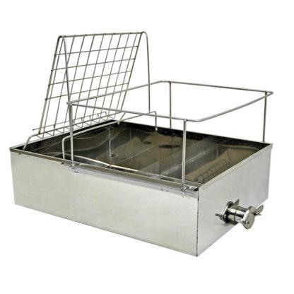 Ванночка для распечатки, нержавеющая, с краном