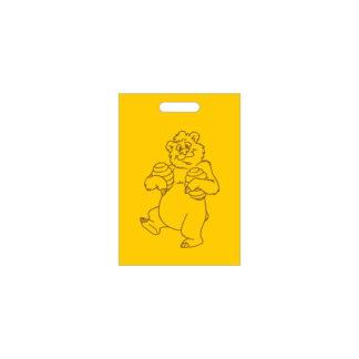 Пакет полиэтиленовый, желтый, 30 x 35 см, 50 шт.