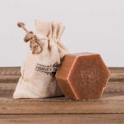 Мыло-скраб в виде соты в мешочке, 100 г
