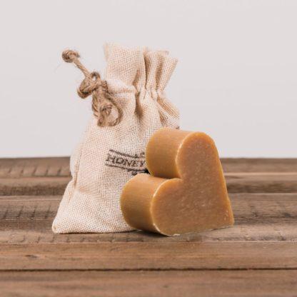Мыло медово-прополисовое сердце в декоративном мешочке