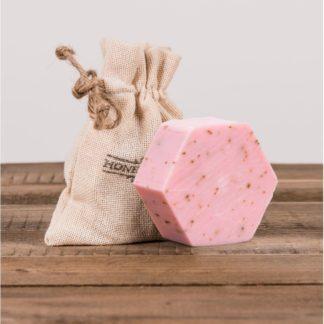Мыло с розой и медом, 100 г,  в декоративном мешочке