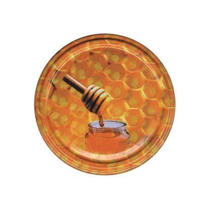 Крышка для банок с медом, металлическая, 66 мм