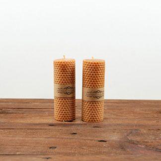 Свеча «Соты», средняя, желтая