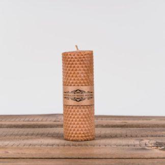 Свеча «Соты», средняя, коричневая