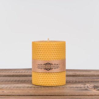Свеча «Соты», малая, желтая