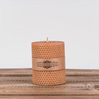 Свеча «Соты», малая, коричневая