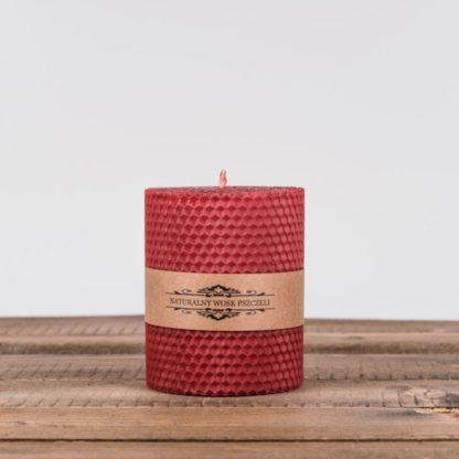 Свеча «Соты», малая, красная