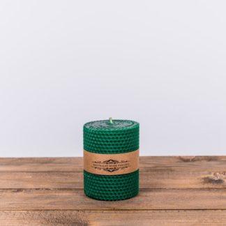 Свеча «Соты», малая, зеленая