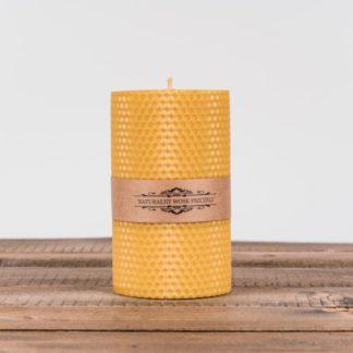 Свеча «Соты», большая, желтая
