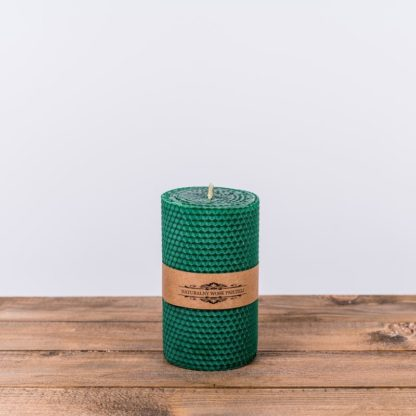 Свеча «Соты», большая, зеленая
