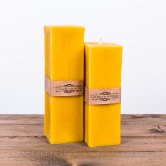 Свеча «Куб», большая, желтая