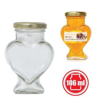 """Банка для меда """"Сердце"""" 106 мл (15 шт.)"""