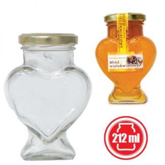 """Банка для меда """"Сердце"""" 212 мл (12 шт.)"""