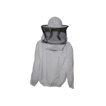 Куртка пчеловодческая со шляпой и лицевой сеткой (тонкая ткань)