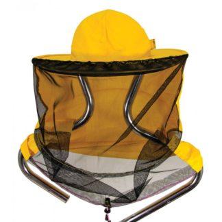 Шляпа пчеловодческая с лицевой сеткой (ткань сзади, съемная сетка)
