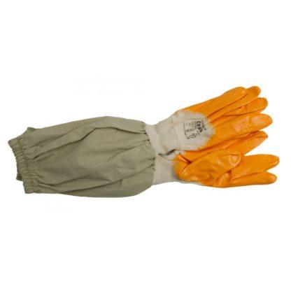 Перчатки резиновые с льняными нарукавниками